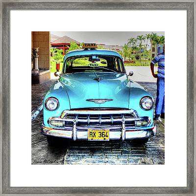 Cuban Taxi Framed Print