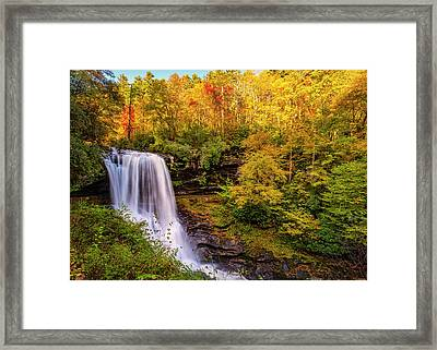 Framed Print featuring the photograph Cullasaja Falls In Full Bloom by Andy Crawford