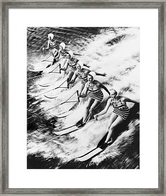 Curiosity  Water Show Framed Print