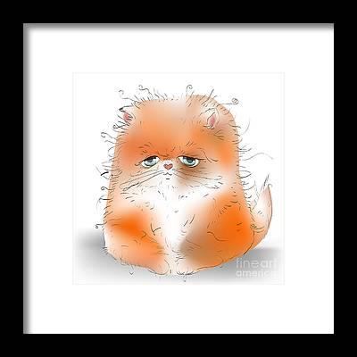 Kitten Cool Art Framed Prints