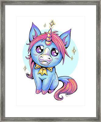 Cute Unicorn I Framed Print