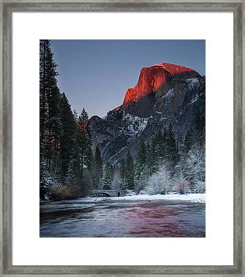 Cutting Half Dome Framed Print by Chase Dekker Wild-life Images