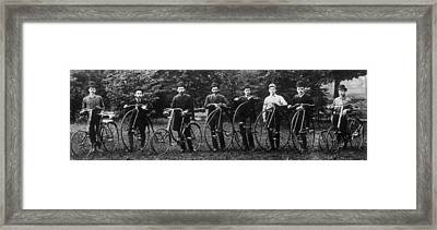 Cycle Club Framed Print by Hulton Archive