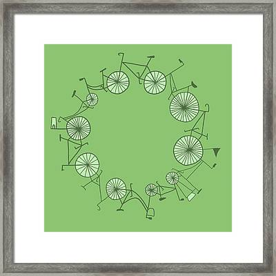 Cycle Framed Print by Illustrations
