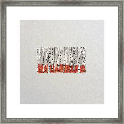 D028 - Birch Trees Framed Print