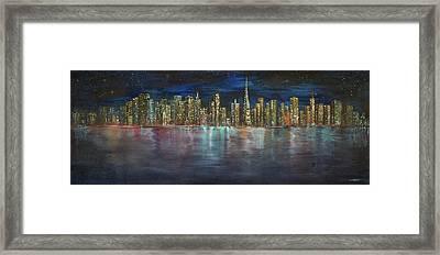 D075 - San Francisco Cityscape Framed Print