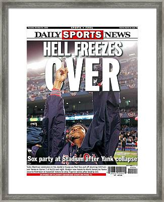 Daily News Backpage Dated Oct. 21 Framed Print