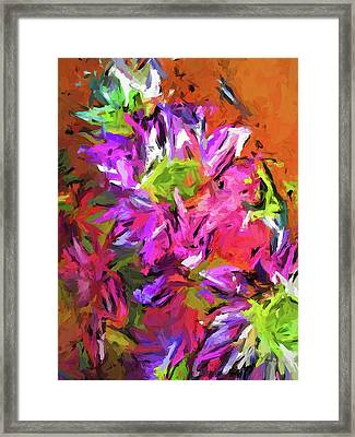 Daisy Rhapsody In Purple And Pink Framed Print