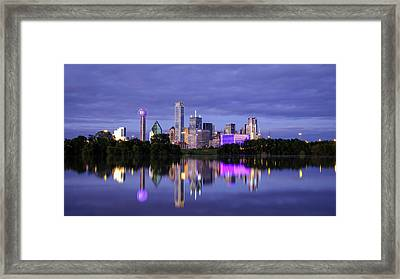 Framed Print featuring the photograph Dallas Cityscape by Robert Bellomy