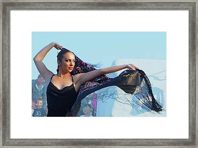 Dancer With Shawl Framed Print by Digby Merry
