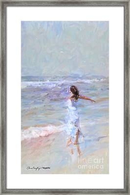 Dancing On The Sand Framed Print