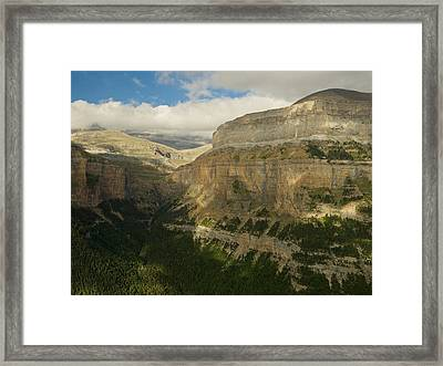 Framed Print featuring the photograph Dappled Light In The Ordesa Valley by Stephen Taylor
