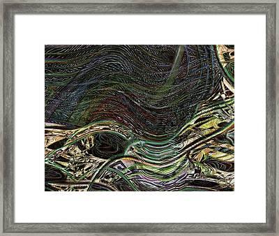 Dark Rainbow Framed Print