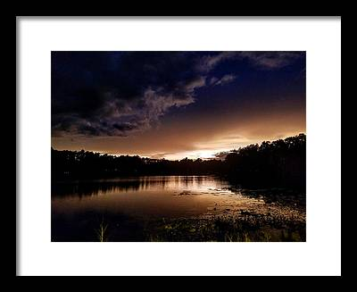 Evening Sun Framed Prints