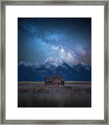 Dark Skies Last Frontier / Mission Mountains, Montana  Framed Print