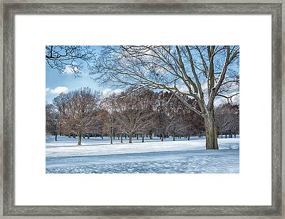 Framed Print featuring the photograph Dashing Through The Snow by Kim Hojnacki