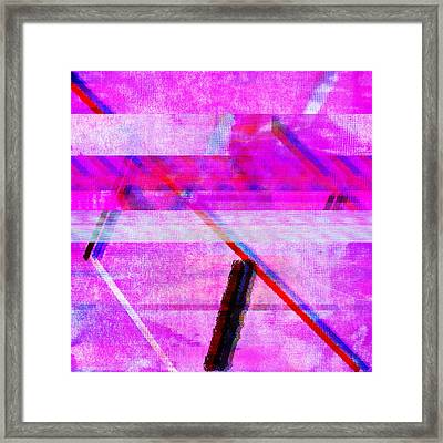 Framed Print featuring the digital art Databending #1 by Bee-Bee Deigner