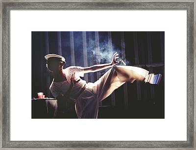 David Bowie Performs Live Framed Print by Richard Mccaffrey