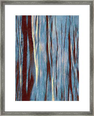 Dawn In The Winter Forest - Landscape Mood Lighting Framed Print