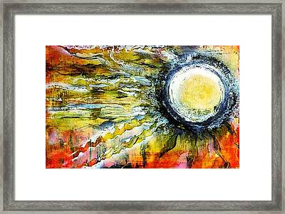 Framed Print featuring the painting Dawn Of A New Sun by 'REA' Gallery