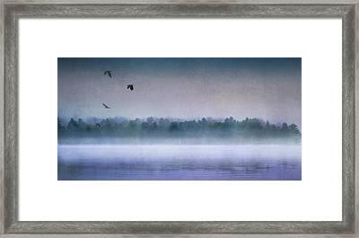 Dawn Of The Fog Framed Print