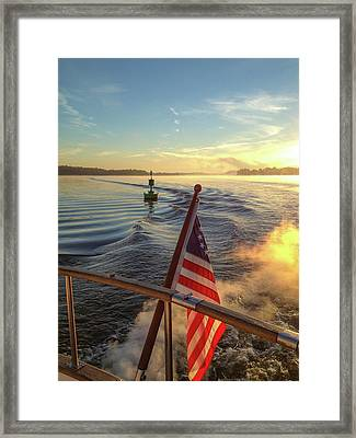 Framed Print featuring the photograph Dawn On The Sassafras River by Mark Duehmig