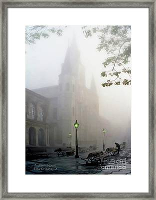 Daybreak In Jackson Square Framed Print