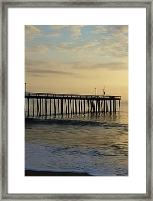 Framed Print featuring the photograph Daybreak Over The Ocean 1 by Robert Banach