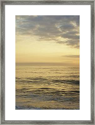 Framed Print featuring the photograph Daybreak Over The Ocean 2 by Robert Banach