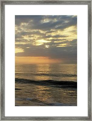 Framed Print featuring the photograph Daybreak Over The Ocean 3 by Robert Banach