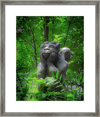 Daydreaming Gargoyle Framed Print
