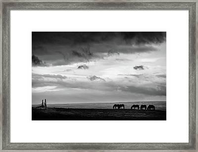 Days End At Hvammstangi Framed Print
