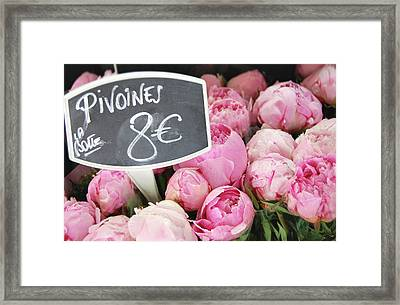 De Couleur Rose Framed Print
