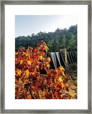 Framed Print featuring the photograph De Soto Falls In Autumn by Rachel Hannah