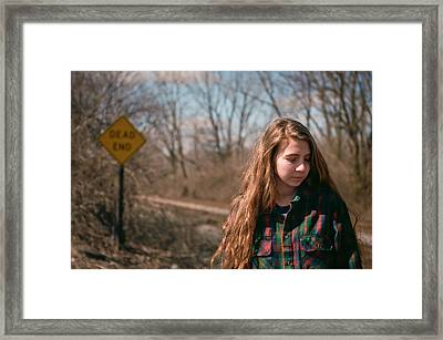 Framed Print featuring the photograph Dead End by Carl Young