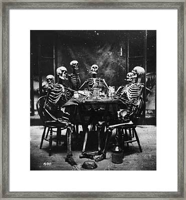 Deathly Diners Framed Print by London Stereoscopic Company