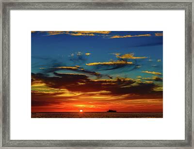 December 17 Sunset Framed Print