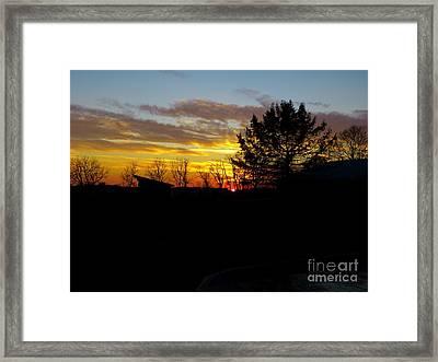 December Paint Framed Print