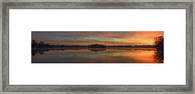 December Sunrise Over Spring Lake Framed Print