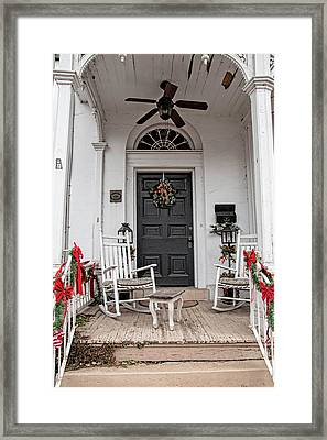 Framed Print featuring the photograph Deck The Porch by Kristia Adams