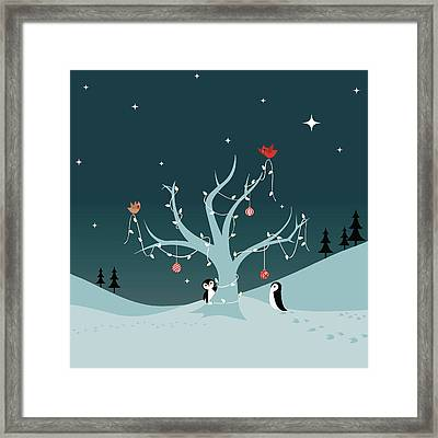 Decorating The Tree Framed Print by Lumpynoodles