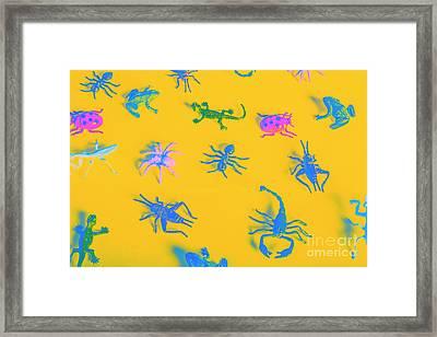 Decorative Creatures Framed Print