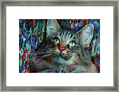 Deedee In Blue And Red Framed Print