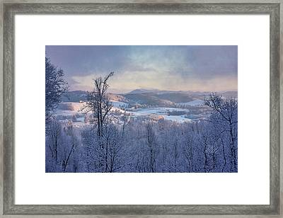 Deer Valley Winter View Framed Print