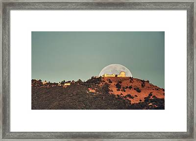 Framed Print featuring the photograph Deflector Shield Over Lick Observatory by Quality HDR Photography