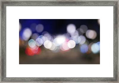 Defocused Lights At Night Framed Print by Jasmin Awad / Eyeem