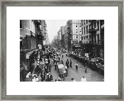 Delancey Street Ny Framed Print by Hulton Archive