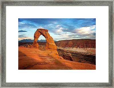 Delicate Arch Glow Framed Print