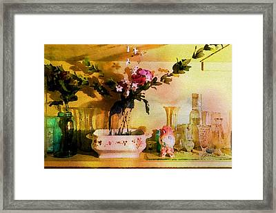 Framed Print featuring the painting Delicate Flowers by Joan Reese
