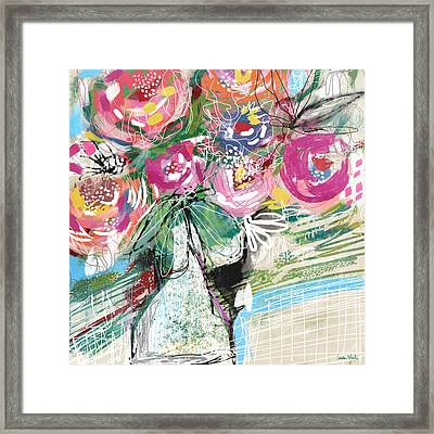 Framed Print featuring the mixed media Delightful Bouquet 3- Art By Linda Woods by Linda Woods